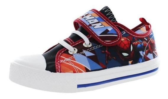 Tenis Spiderman Marvel Niño Tipo Converse