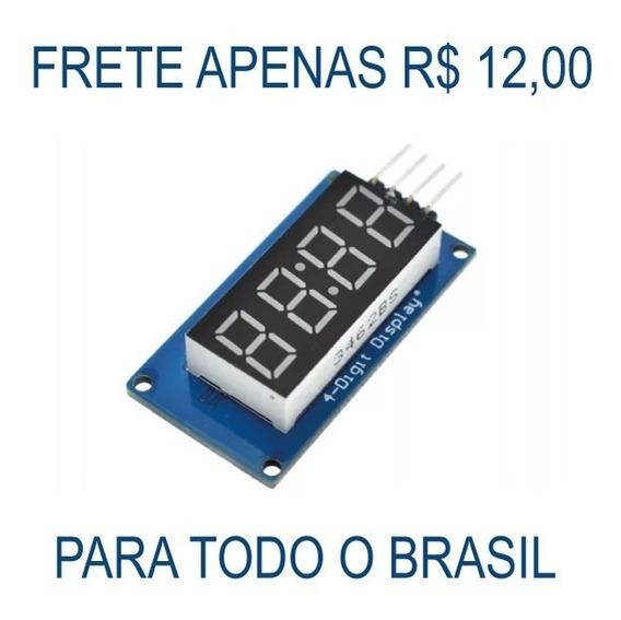 Módulo Display 7 Segmentos 4 Dígitos Vermelho Tm1637 Arduino
