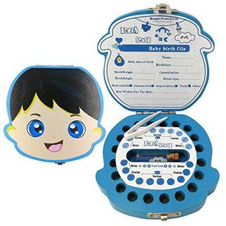Caja De Recuerdos Pambo Para Bebés Madera -azul