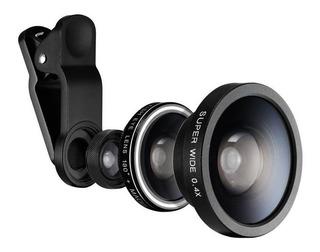 Lente Para Camera De Smartphone Spigen 3 Em 1 Black