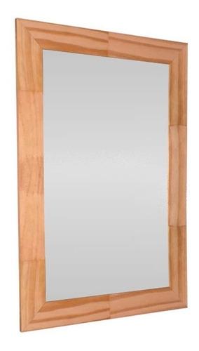 Espejo Reflejar Finger Baño Marco Madera Rectangular 59x39