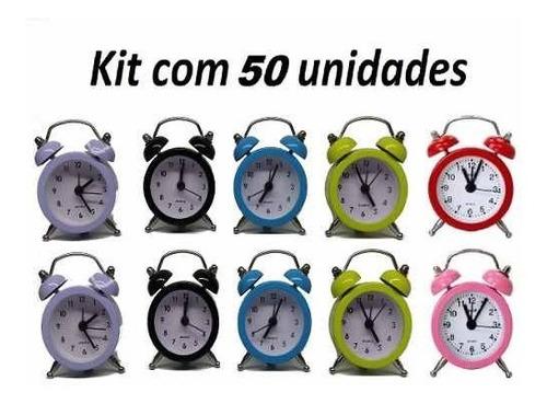 Imagem 1 de 6 de 50 Uni. Despertador Mini Relógio Vintage Retro Lembrancinha