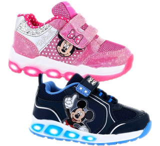 Zapatillas Con Luces Led Footy Disney Mickey Minnie Frozen