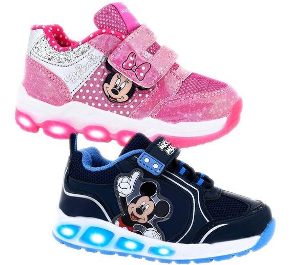 Zapatillas Con Luces Led Footy Disney Mickey Minnie Frozen