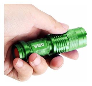 Mini Lámpara Linterna 3 Modos Antorcha Con Sujetador Bici