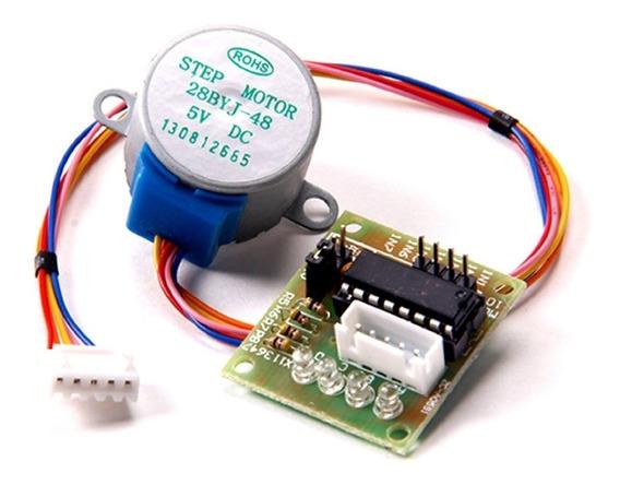 Motor De Passo 28byj-48-5v + Módulo Controlador (drive) Uln2