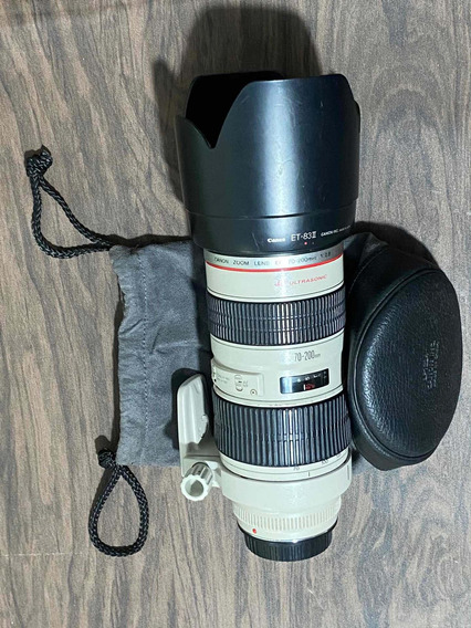 Lente Canon Original 70-200 2.8 L Ultrasonic