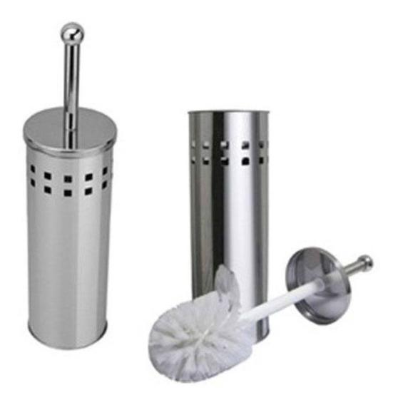 Escova Sanitária Inox Suporte Banheiro Decoração Promoção