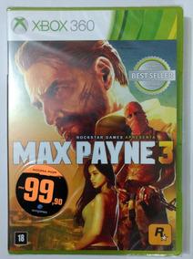Max Payne 3 Xbox 360 Mídia Física Novo E Lacrado De Fábrica