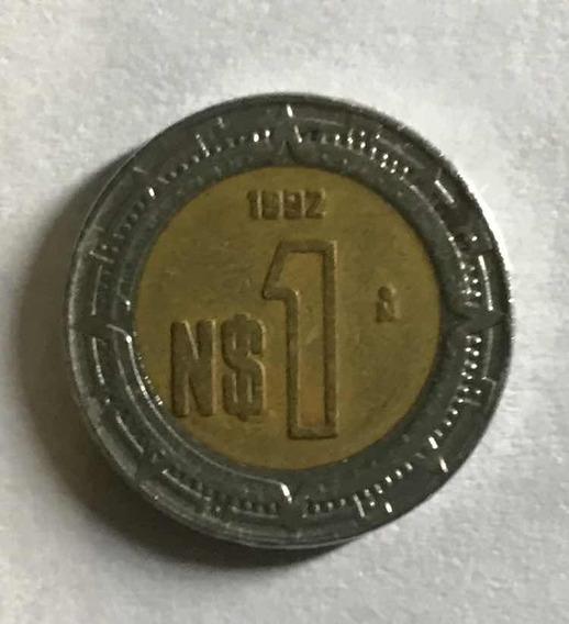 Moneda Mexicana Del 1992 (llamadas) Nuevo Pesos De Plata