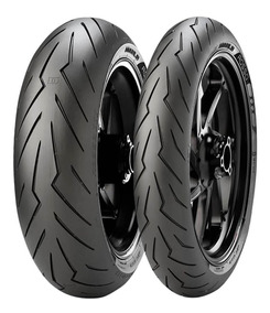 Kit Par Pneu 200/55-17 + 120/70-17 Pirelli Diablo Rosso 3
