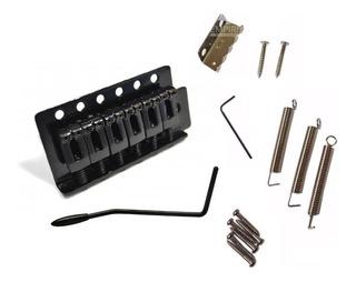 Ponte Stratocaster Com Tremolo Preto Kit Completo