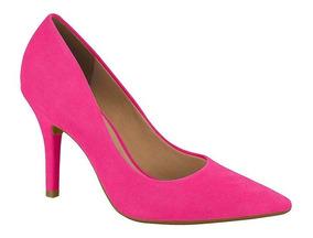 Sapato Feminino Rosa Pink Scarpin Salto Fino Vizzano 1184113