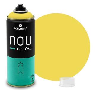 Tinta Spray Colorart Nou Colors P/ Grafiteiros Amarelo Claro