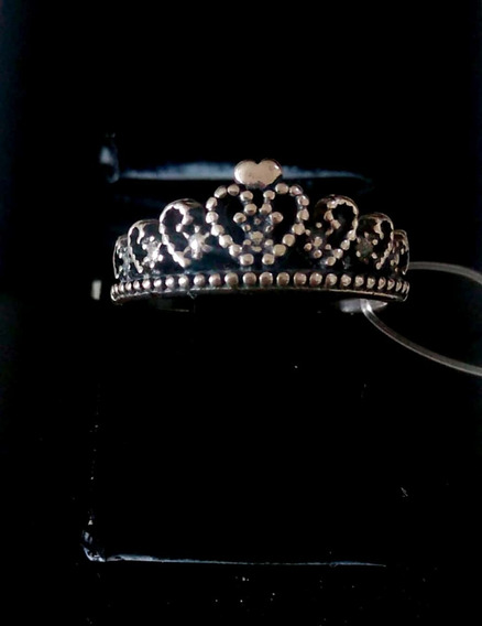 Anel Modelo Coroa - Prata Envelhecida 925 - Prata Legítima