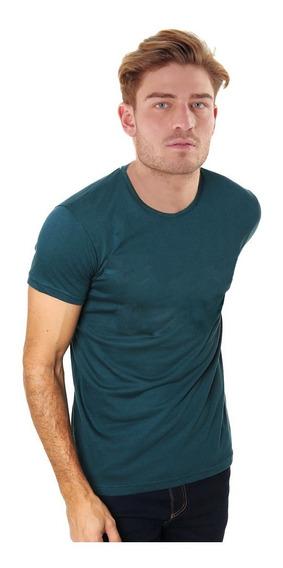 Envio Gratis Remera Lisa 100% Algodon Varios Colore Slim Fit