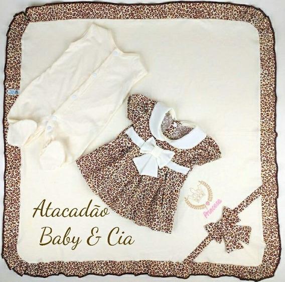 Saida De Maternidade 3 Peças Bebe Recem Nascido Menino Menin