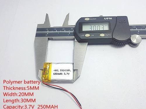 Bateria Mp3 Mp4 Mp5 3,7v 250mah 5mm X 20mm X 30mm