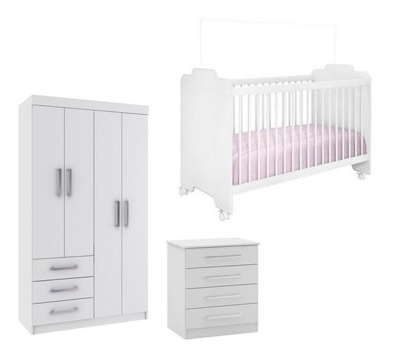 Dormitorio Completo C/ Berço Guarda Roupa E Comoda B9 Bebê