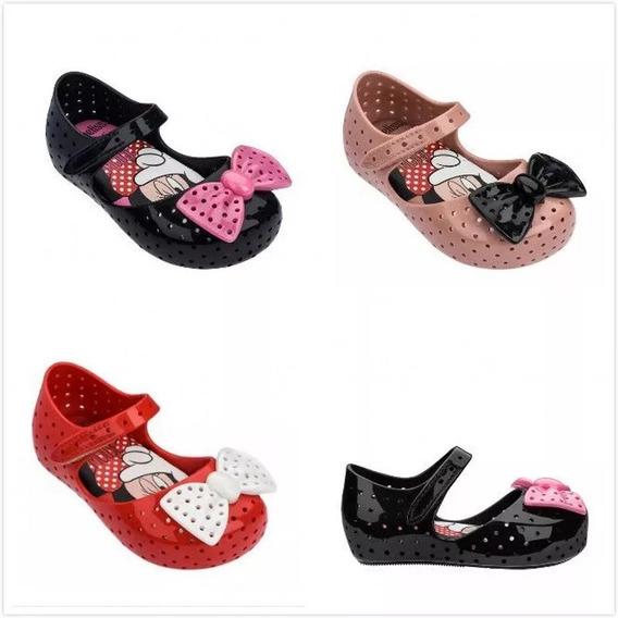 Zapato Niña Mini Melissa Minnie 4 Colores 15 A 18 Cm