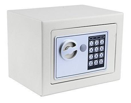 Caja Fuerte Digital + 2 Llaves + Bulones Teclado Numerico