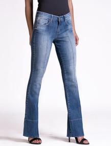 Calça Jeans Flare C/ Nervura Equus