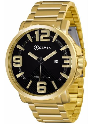Relógio X-games Masculino Analogico Xmgs1011 Dourado Ouro