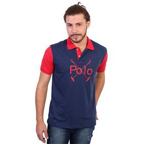 Camisa Polo England Polo Club Estampada Marinho