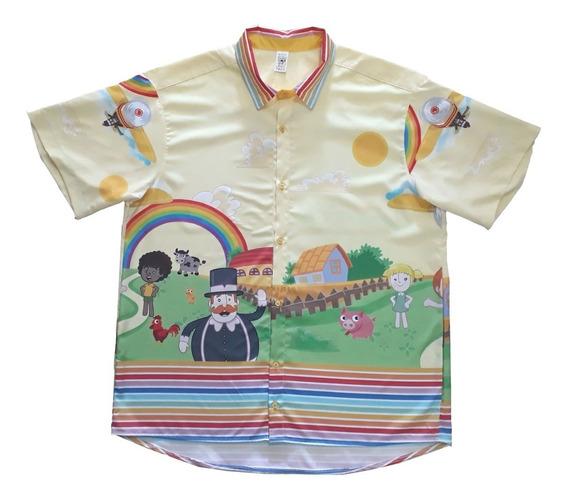 Camisa Mundo Bita Amarelo Blusa Tal Pai Tal Filho Adulto