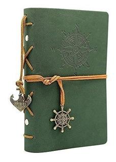 Libreta Diario Pirata Vintage Imitación Piel Cuaderno