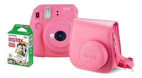 Câmera Fujifilm Instax Mini 9+ Filmes 20 + Bolsa