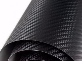 Adesivo Carro Fibra Carbono Preto 1,2 Metro X 50 Cm Tuning