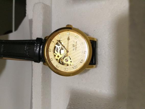 Relógio De Luxo Barato Dourado Com Frete Gratis + Brinde