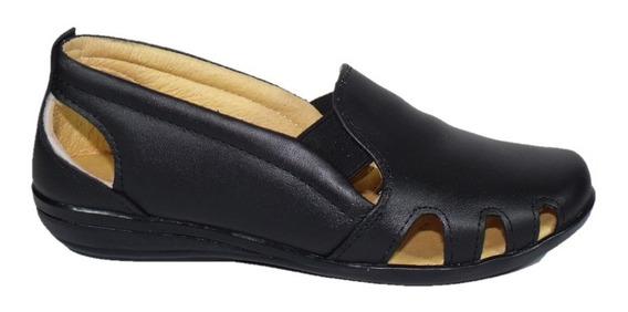 Zapato Cómodo Dama Pie Diabético O Delicado, Piel M511n