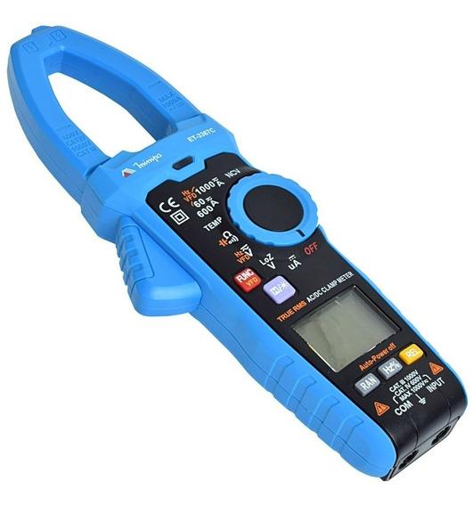 Alicate Amperímetro Digital 400a True Rms Et-3367c Minipa