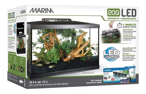 Kit Pecera Marina Deluxe 20g 75l Acuario
