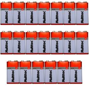 Kit C/ 20 Pilhas Baterias 9v Multitoc 6f22