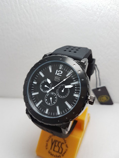 Reloj Yess S394-03 Negro Hombre Original