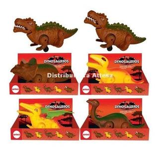 Divertidos Dinos Antex En Caja Dinosaurio Con Ruedas Movil
