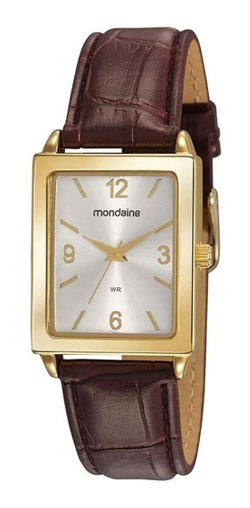 Relógio Masculino Mondaine Dourado 83477lpmvdh1 Couro