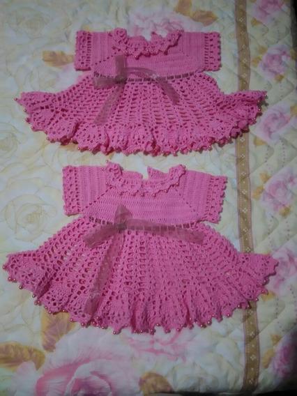 Vestido Para Recém-nascido Rosa