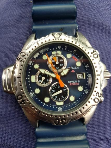Relógio Citizen Promaster Aqualand 3740 - Fundo Azul