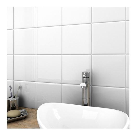 Azulejo Blanco Brill 15x15 (14.8x14.8) 1ra Cal San Lorenzo