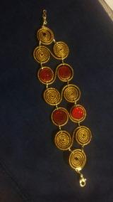Pulseiras Eliz Em Capim Dourado Kit Com 25 Unidades