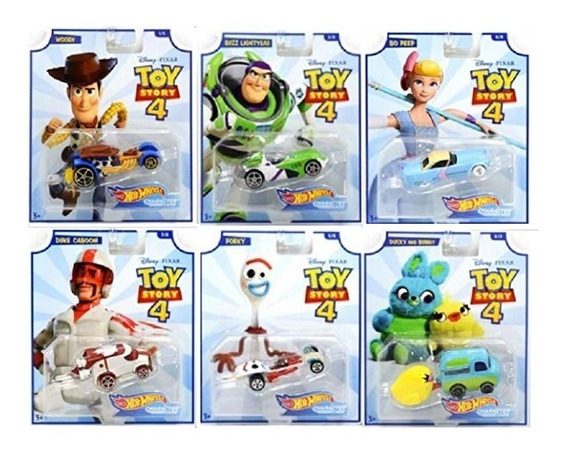 Hot Wheels - Toy Story 4 - Conjunto Com 6 Carrinhos - Lindo
