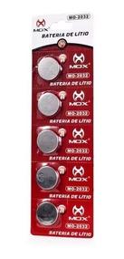 Bateria Mox De Lítio Botão 3v Cartela Com 5 Mox Mo-cr2032