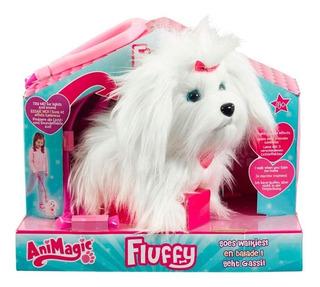 Animagic Fluffy Perro Con Correa Camina Shine 31237