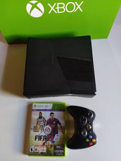 Xbox 360 Slim S 4gb Original + Joystick + Juego + Cables