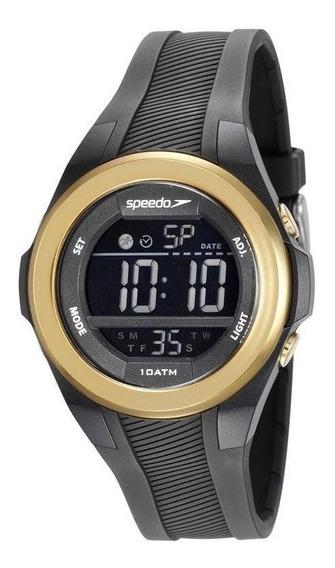 Relógio Speedo 65097l0evnp2 Digital Preto Dourado Médio Puls