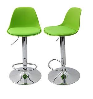 Color Verde Banco Giratorio Para Barra Set De 2